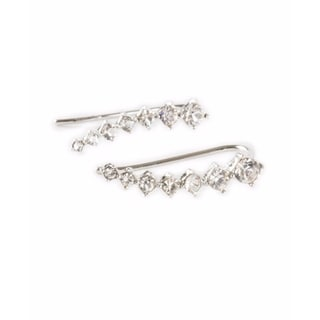 Ear Cuff Ear Climber Silver or Goldplated Crystal Comet Shooting Star Everyday Earrings 20550271