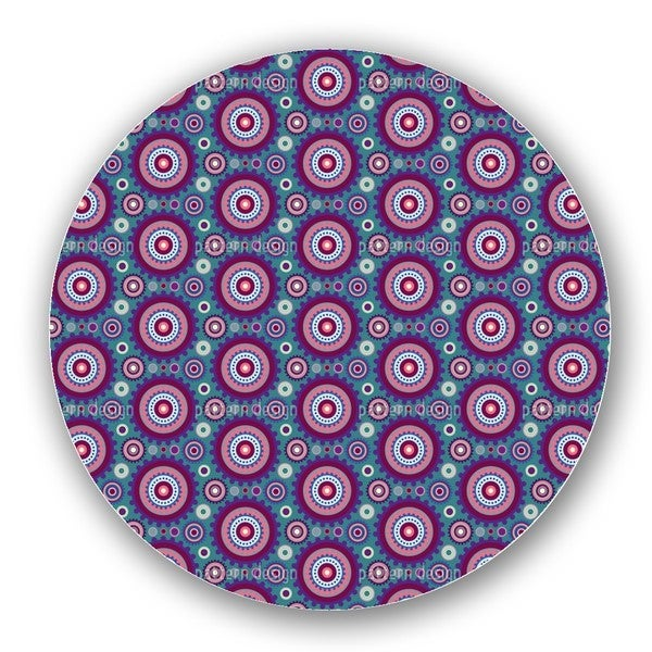 Floral Gear Circles Lazy Susan