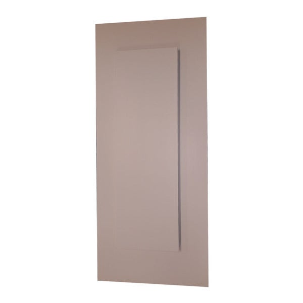 WG Wood Products Wood and Glass 14-inch x 38-inch Recessed Disappearing Frameless Wall Cabinet