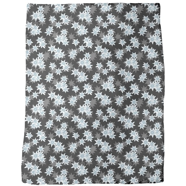 Edelweiss Black Fleece Blanket