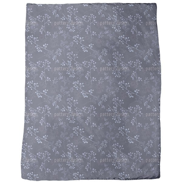 Twiggy Dark Blue Fleece Blanket