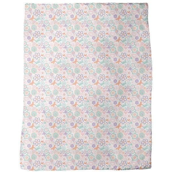 Butterflies Awake Fleece Blanket