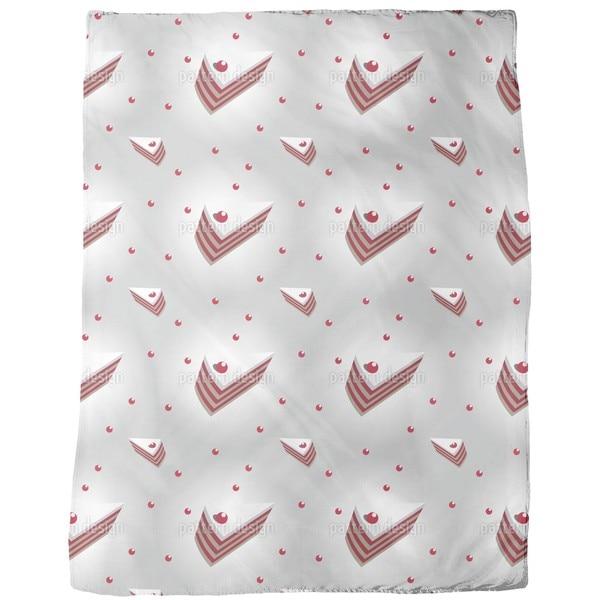 Cherry Cream Cake Fleece Blanket