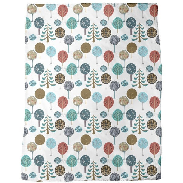 Tree Nursery Fleece Blanket