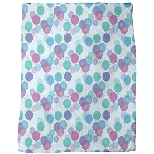 Blue Balloons Fleece Blanket