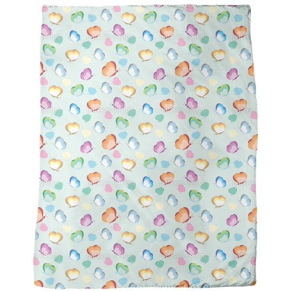 Fly Dear Butterfly Fleece Blanket