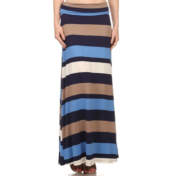 Women's Multi Stripe Maxi Skirt