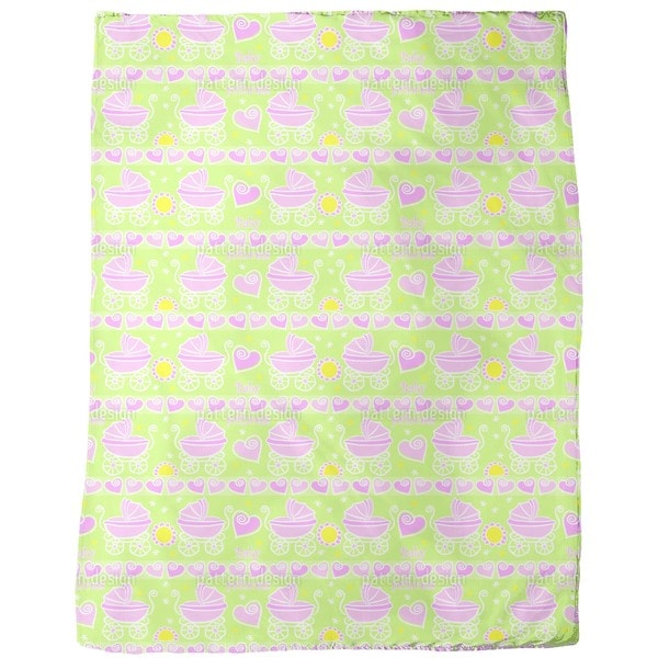 Neon Baby Pink Fleece Blanket
