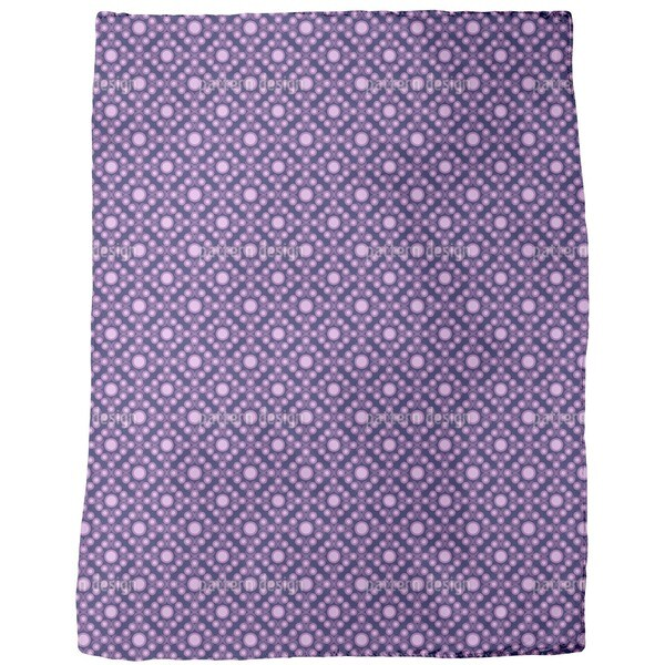 Violet Dots Fleece Blanket