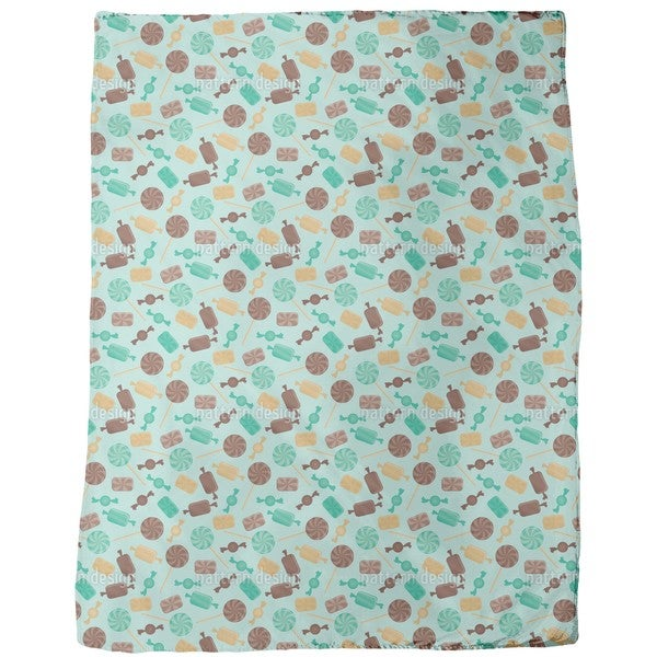 Candy Mint Fleece Blanket