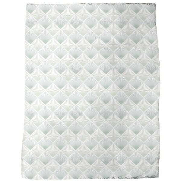 Art Deco Fan Fleece Blanket
