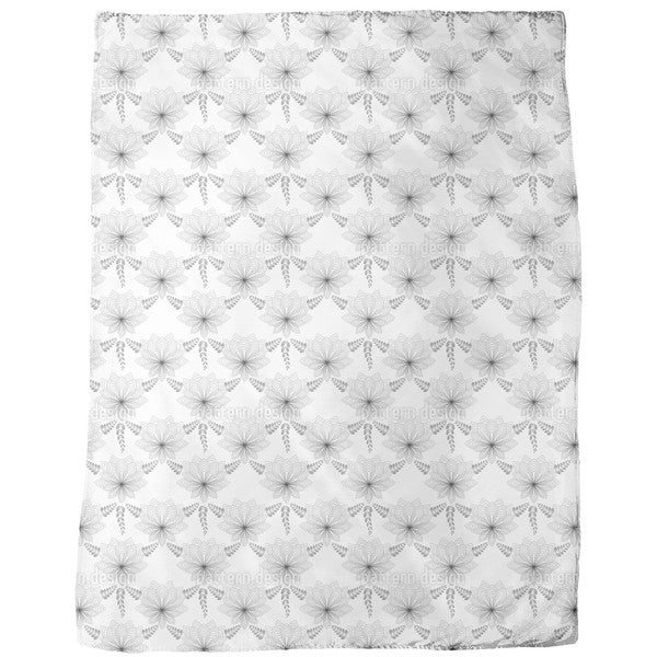 Art Deco Flower Fleece Blanket
