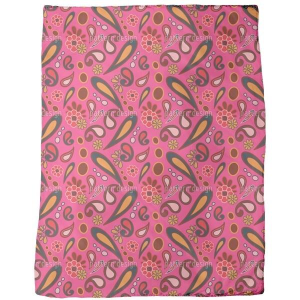 Beebob Paisley Fuchsia Fleece Blanket