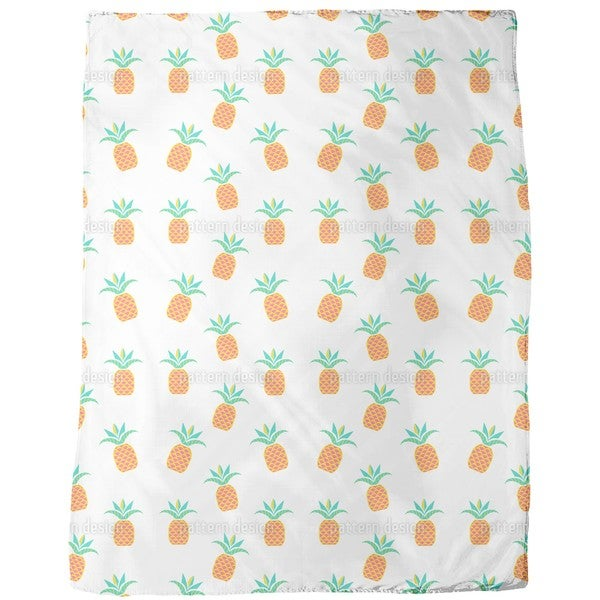 Tropical Pineapples Fleece Blanket