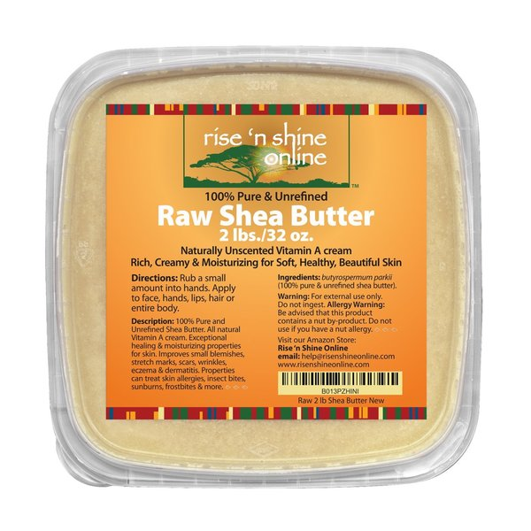 Bulk Raw 32-ounce Organic Unrefined Ivory Shea Butter