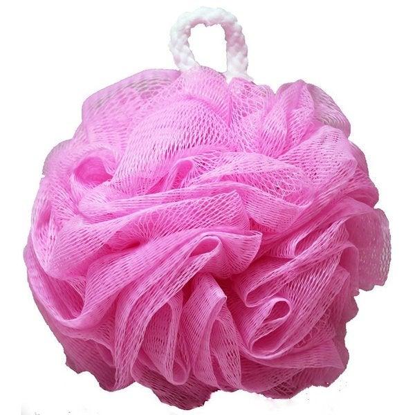 Kingsley Pink Nylon Body Wash Mesh Flower