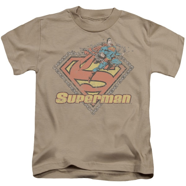 Superman/Est. 1939 Short Sleeve Juvenile Graphic T-Shirt in Sand