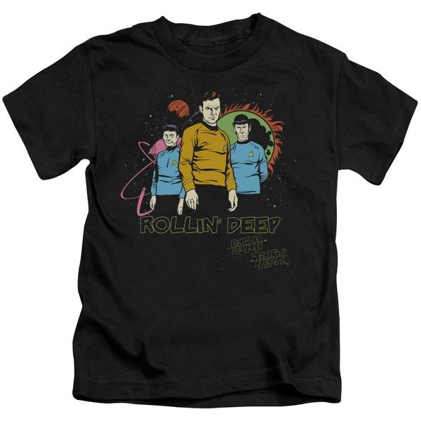 Star Trek/Rollin Deep Short Sleeve Juvenile Graphic T-Shirt in Black