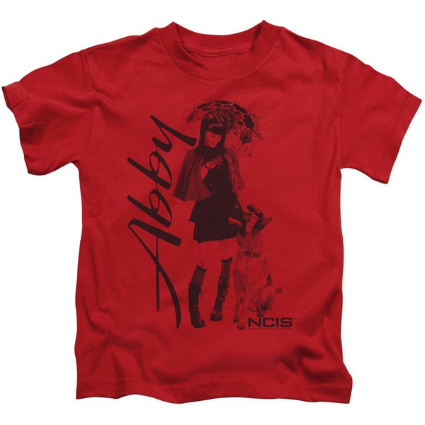 Ncis/Sunny Day Short Sleeve Juvenile Graphic T-Shirt in Red