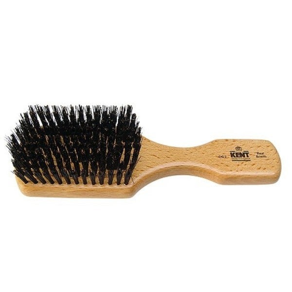 Kent Rectangular Club Handled Black Bristle Brush
