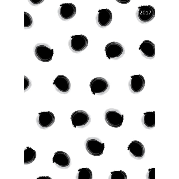 2017 Black Dots 12-month Simplicity Planner