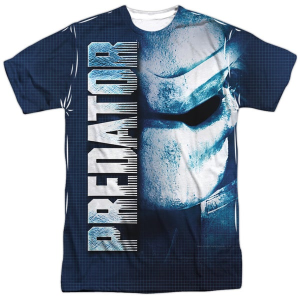 Predator/Mask (Front/Back Print) Short Sleeve Adult Poly Crew in White