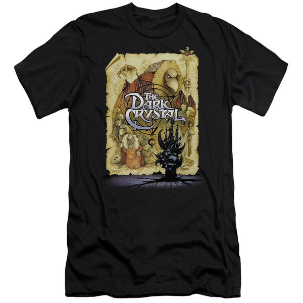 Dark Crystal/Poster Short Sleeve Adult T-Shirt 30/1 in Black