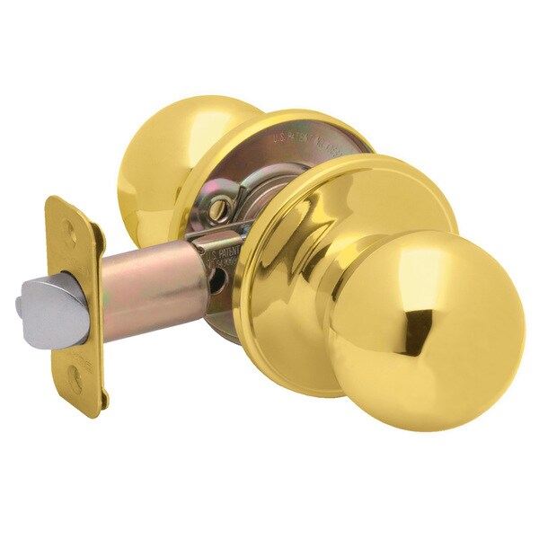 Dexter by Schlage J10VCNA605 Bright Brass Corona Passage Door Knobs