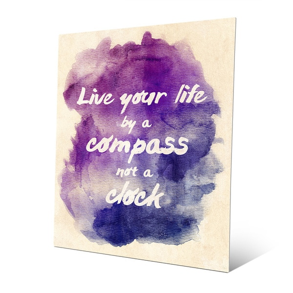 'Live Your Life' Watercolor Metal Wall Art