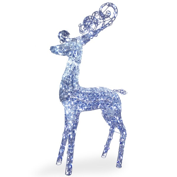 60-inch Reindeer Decoration with LED Lights