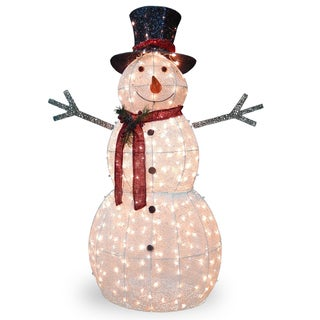 60-inch Snowman Decoration with Clear Lights