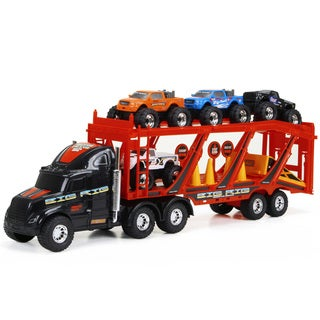 New Bright 22-inch Big Foot Car Carrier with 4 Trucks and Accessories