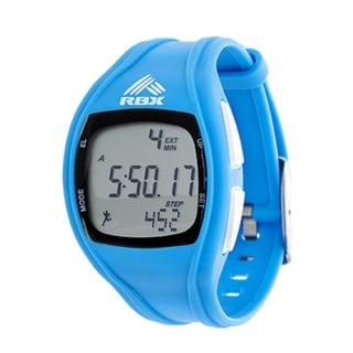 RBX Active Digital Blue Silicone Pedometer Watch
