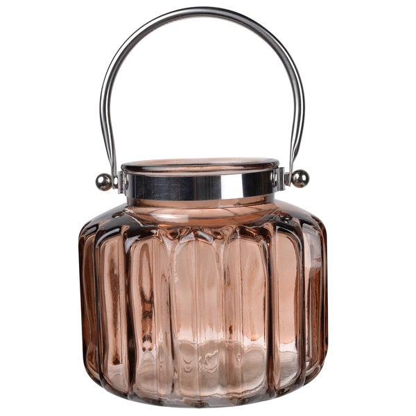 8 x 7-inch Diameter Glass Lantern