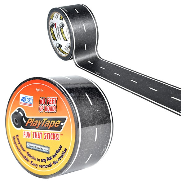PlayTape Road, Black, 60 ft. x 2 in.