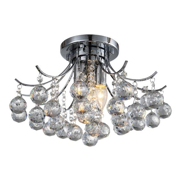 OVE Decors Warsaw Chrome-finished Iron LED-integrated Chandelier