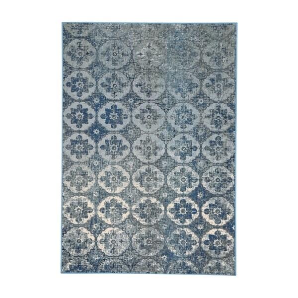 Kevin O'Brien Cavalcade-Constantinople Azure Woven Rug (3'11 x 5' 5)