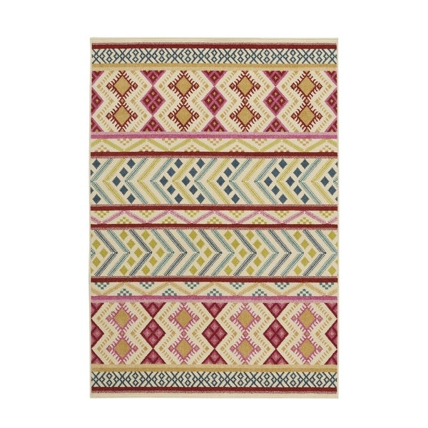 Genevieve Gorder Aster-Kelim Blush Rectangular Machine-woven Rug (3'10 x 5'5)