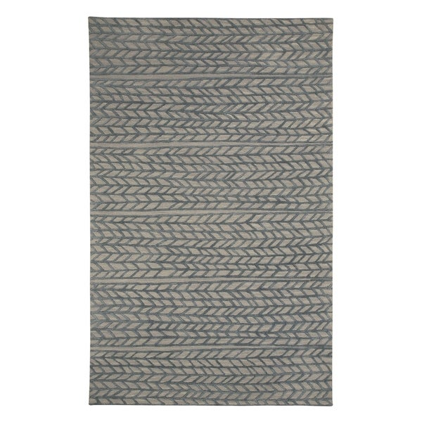 Genevieve Gorder Spear Granite Smoke Rectangular Hand-tufted Rug (5' x 8')