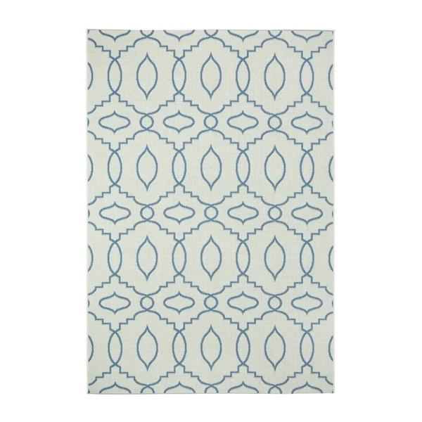 Genevieve Gorder Elsinore-Moor Blueberry Rectangle Machine-woven Rug (7'10 x 11')