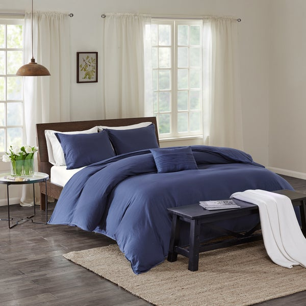 Echo Design Montauk Indigo Cotton Duvet Cover Mini Set