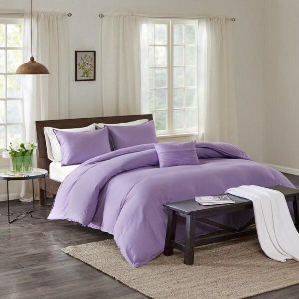 Echo Design Montauk Lavender Cotton Duvet Cover Mini Set 20565086