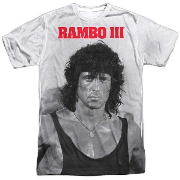 Rambo Iii/Rambo Stare Short Sleeve Adult Poly Crew in White