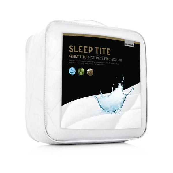 Malouf Sleep Tite Quilt Tite Quilted Waterproof Cotton Mattress Protector