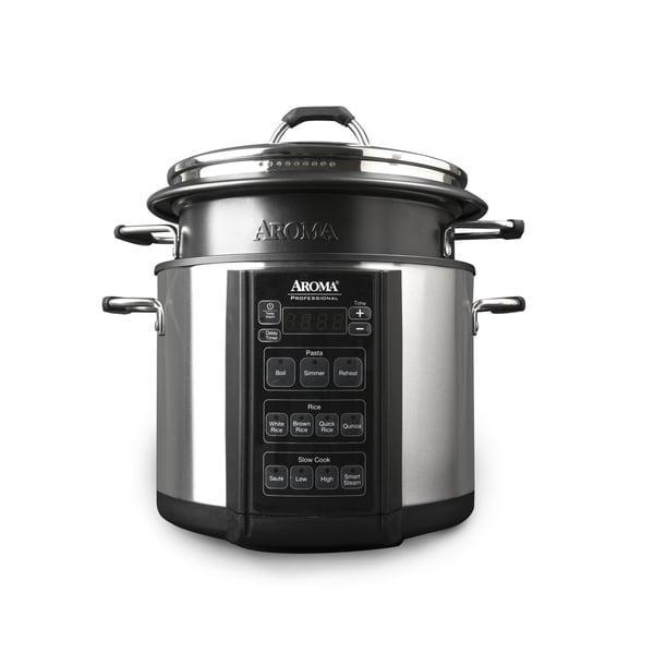Aroma AMC-300-SG Black Stainless Steel Multi Cooker
