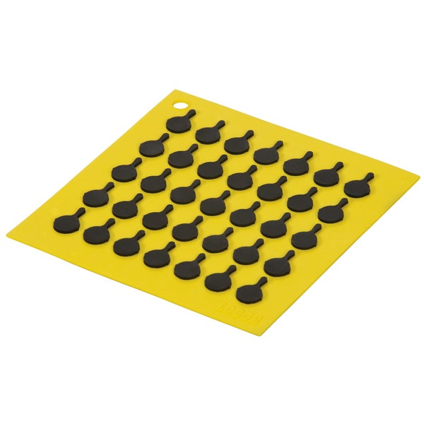 Lodge AS7S21 Yellow Square Silicone Trivet 20571769