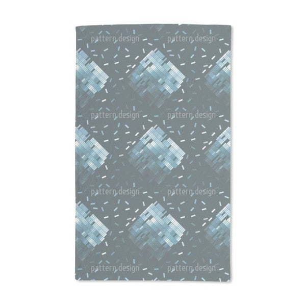 Blue Decay Hand Towel (Set of 2)