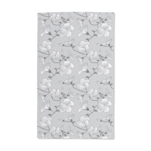 Hibiscus Monochrome Hand Towel (Set of 2)