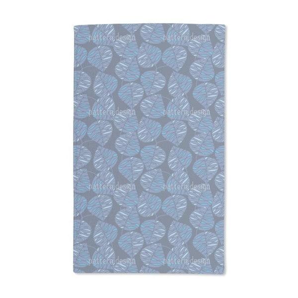 Marine Blue Hand Towel (Set of 2)