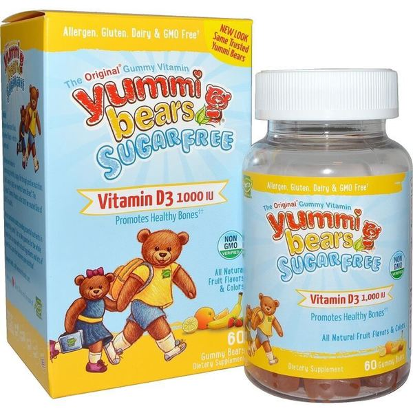 Yummi Bears Vitamin D3 1000 IU Fruit Flavor Gummy Bears (60 Gummies)